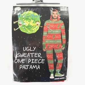 Rick & Morty Pickle Rick Ugly Sweater One Piece 3X